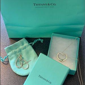Tiffany Elsa Peretti Necklace and Tiffany earrings
